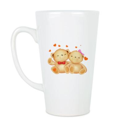 Чашка Латте Мишки Тедди