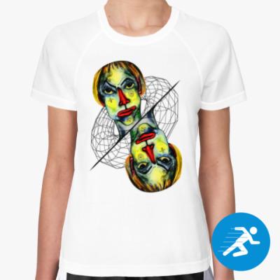 Женская спортивная футболка Че вылупился?