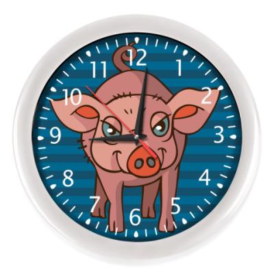 Настенные часы Стилизованная свинья