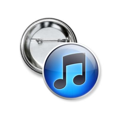 Значок 37мм  iTunes