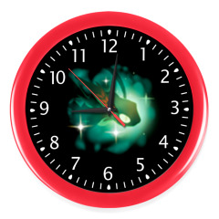 Часы, красные (белые цифры)
