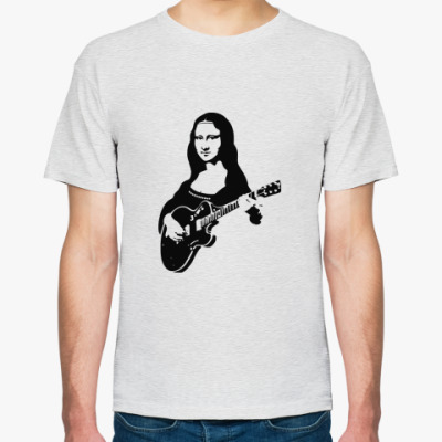 Футболка Мона Лиза и гитара