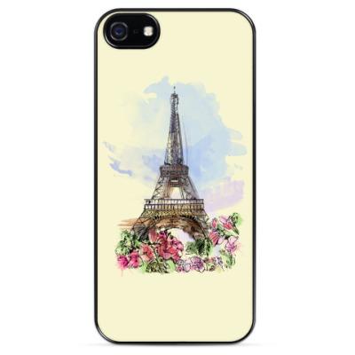Чехол для iPhone Эйфелева башня - Париж