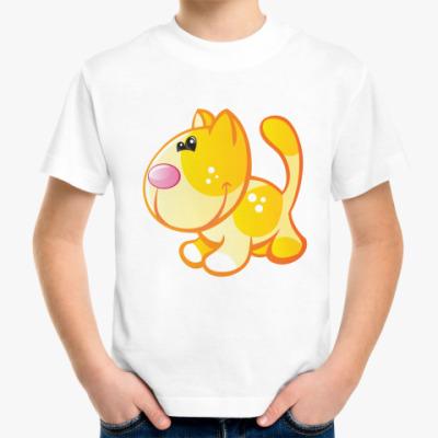 Детская футболка Рыжий кот приносит счастье