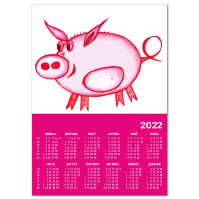 Календарь Розовый поросенок