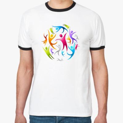 Футболка Ringer-T   Человечки