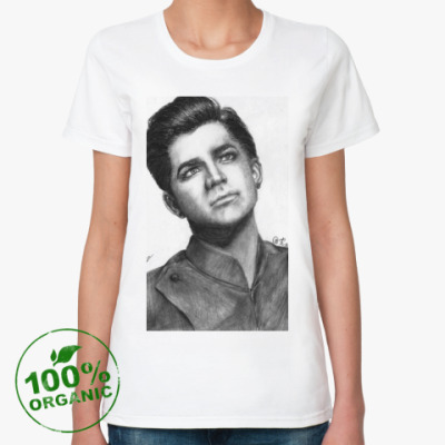 Женская футболка из органик-хлопка Adam Lambert