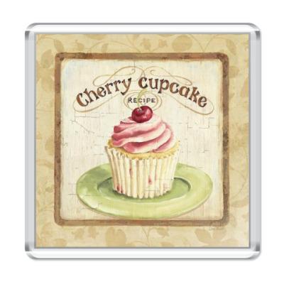 Магнит  Cherry cupcake
