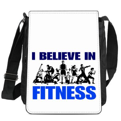 Сумка-планшет я верю в фитнес
