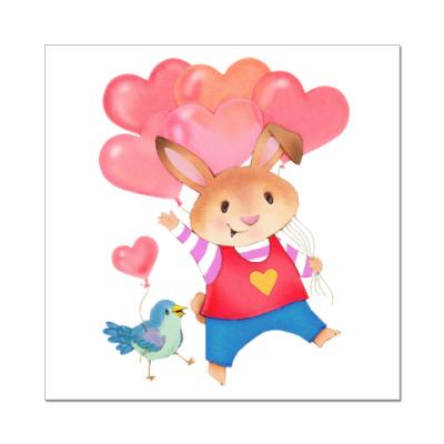 Наклейка (стикер) Кролик с Любовью