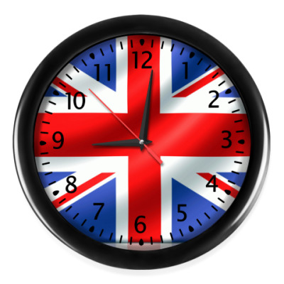 Настенные часы Британский флаг