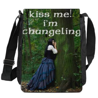 Сумка-планшет Kiss me i'm changeling