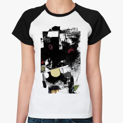 Женская футболка реглан Манга, комикс
