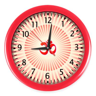 Настенные часы Светящийся Om (Aum)