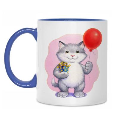 Кружка Кот и воздушный шарик