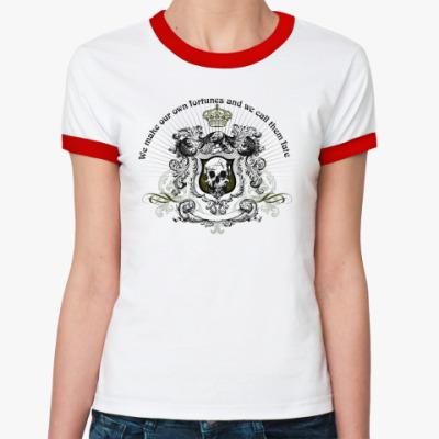 Женская футболка Ringer-T skull fortune