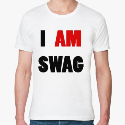 Футболка из органик-хлопка   I am swag