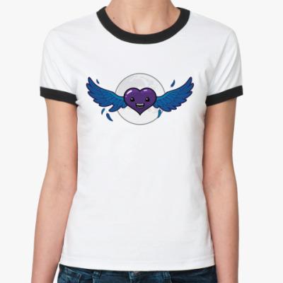 Женская футболка Ringer-T сердце-вампир