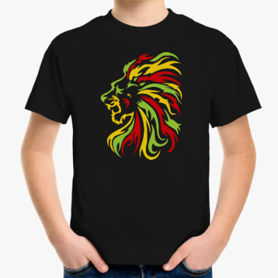 Детская футболка Красочный лев