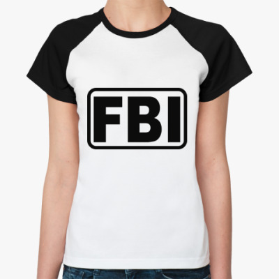 Женская футболка реглан FBI