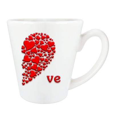 Чашка Латте Половинка Сердца