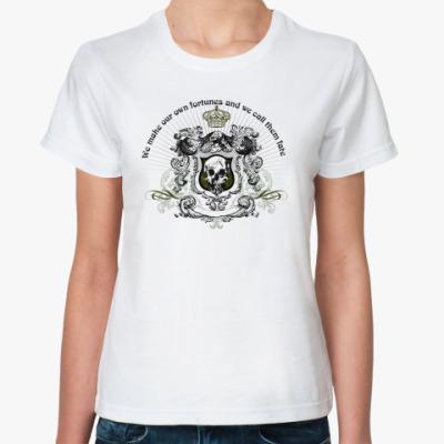 Классическая футболка skull fortune