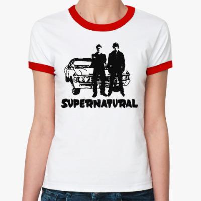 Женская футболка Ringer-T Supernatural Impala