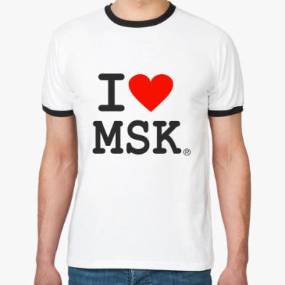 Футболка Ringer-T I love MSK