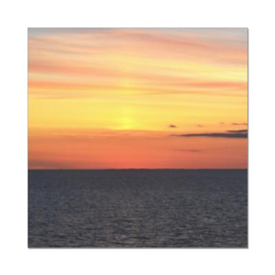 Наклейка (стикер) Закатное море | Sunset sea