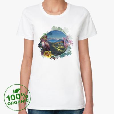 Женская футболка из органик-хлопка Альпийская сказка