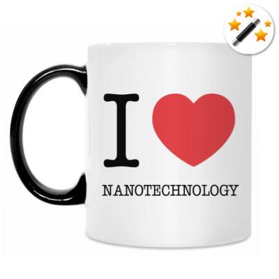 Кружка-хамелеон I love nanotechnology