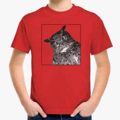 Детская футболка Филин