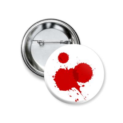 Значок 37мм Брызги крови