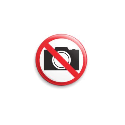 Значок 25мм No Photography