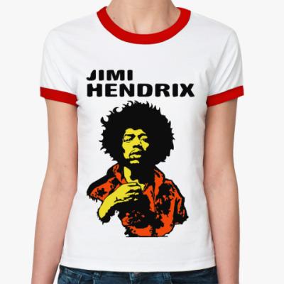 Женская футболка Ringer-T Jimmi Hendrix