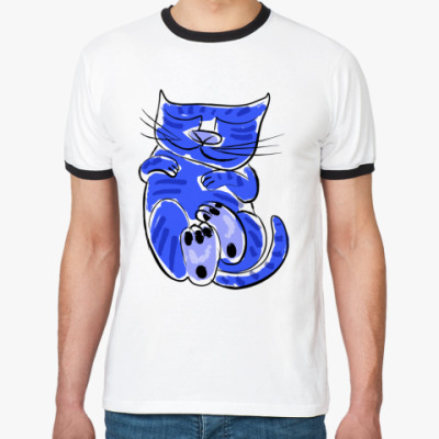 Футболка Ringer-T Рисованный кот