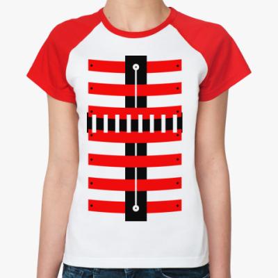 Женская футболка реглан Броня