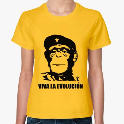 Женская футболка 'Viva la evolucion'