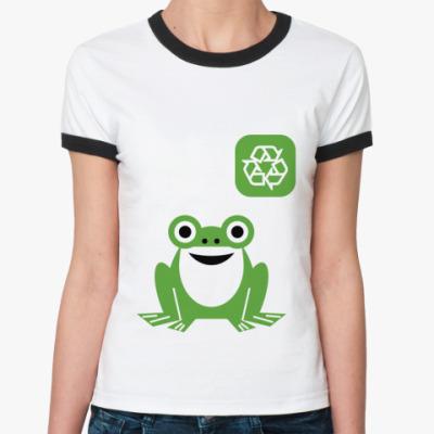 Женская футболка Ringer-T ECO line