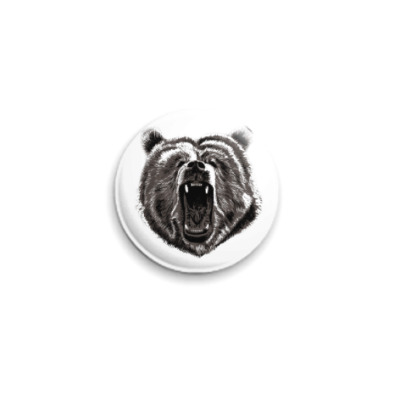 Значок 25мм Медведь