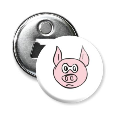 Магнит-открывашка Суровый свин