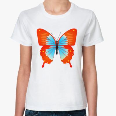 Классическая футболка Бабочка счастья