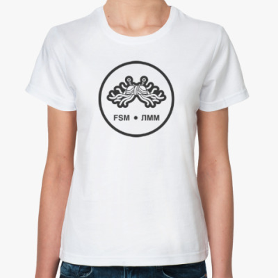 Классическая футболка Женская футболка (белая)