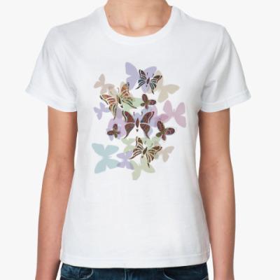 Классическая футболка Бабочки