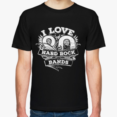 Футболка I love 80's Hard Rock