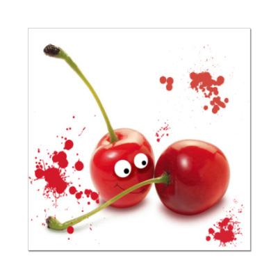 Наклейка (стикер) вишня