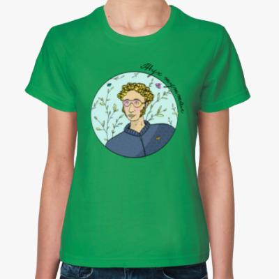 Женская футболка Пушкин жук 2.0