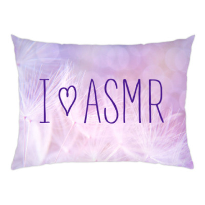 Подушка Я люблю АСМР (цветы)