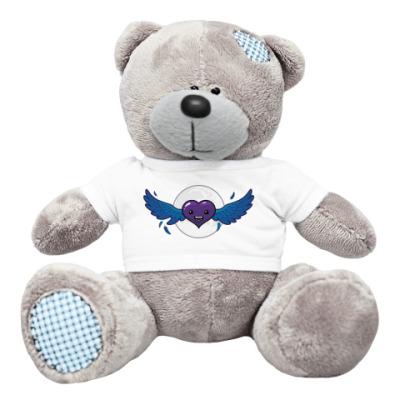 Плюшевый мишка Тедди сердце-вампир
