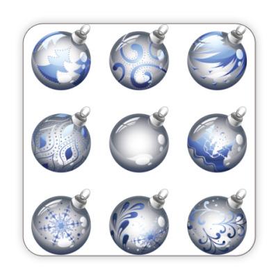 Костер (подставка под кружку) Новогодние шары